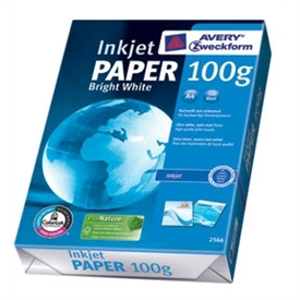 Avery 2566 Bright White Inkjet Papir 2566