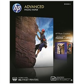 HP Advanced Glossy Photo Inkjet Papir Q8696A